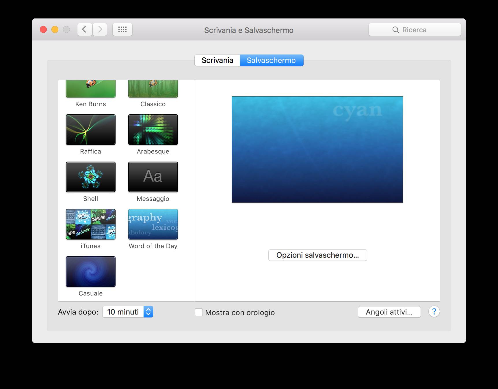 schermata 2015 11 09 alle 20.22.39 Impostare video come Screen Saver su Mac OS X
