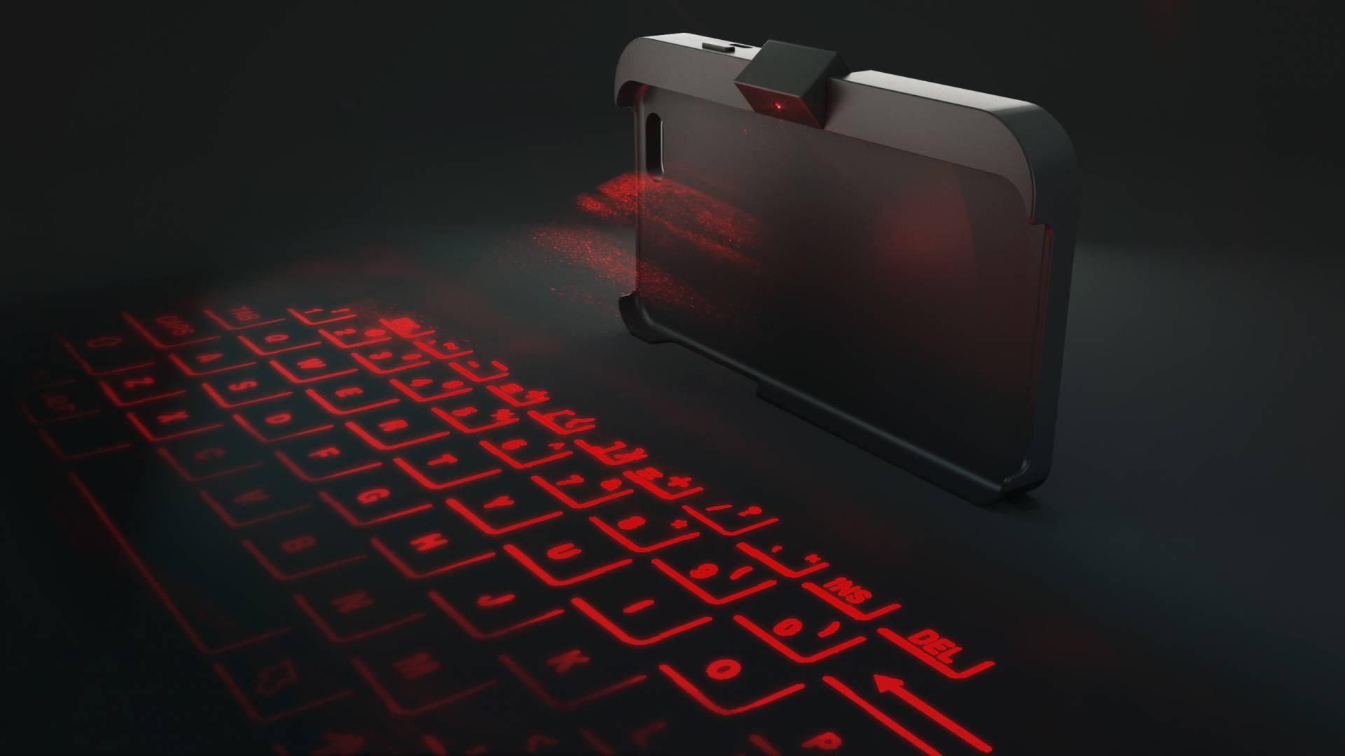cover proiettore statica ViKC la tastiera laser per smartphone è realtà