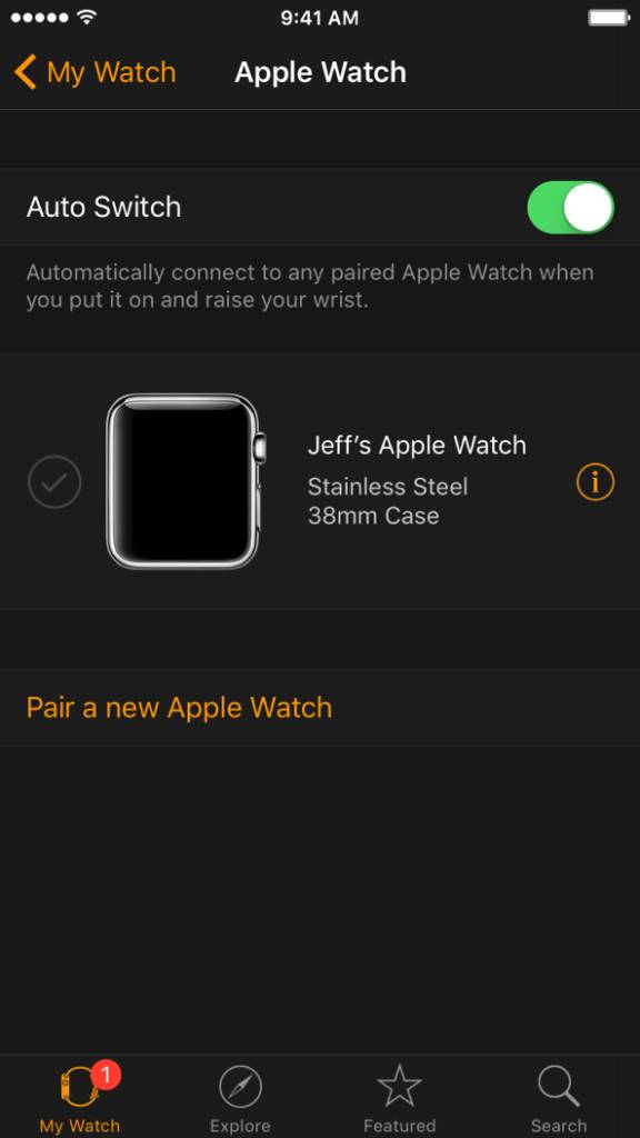 apple watch multiple pairings 9.3 576x1024 Apple rilascia OS X 10.11.4, iOS 9.3, watchOS 2.2 e tvOS 9.2 beta agli sviluppatori