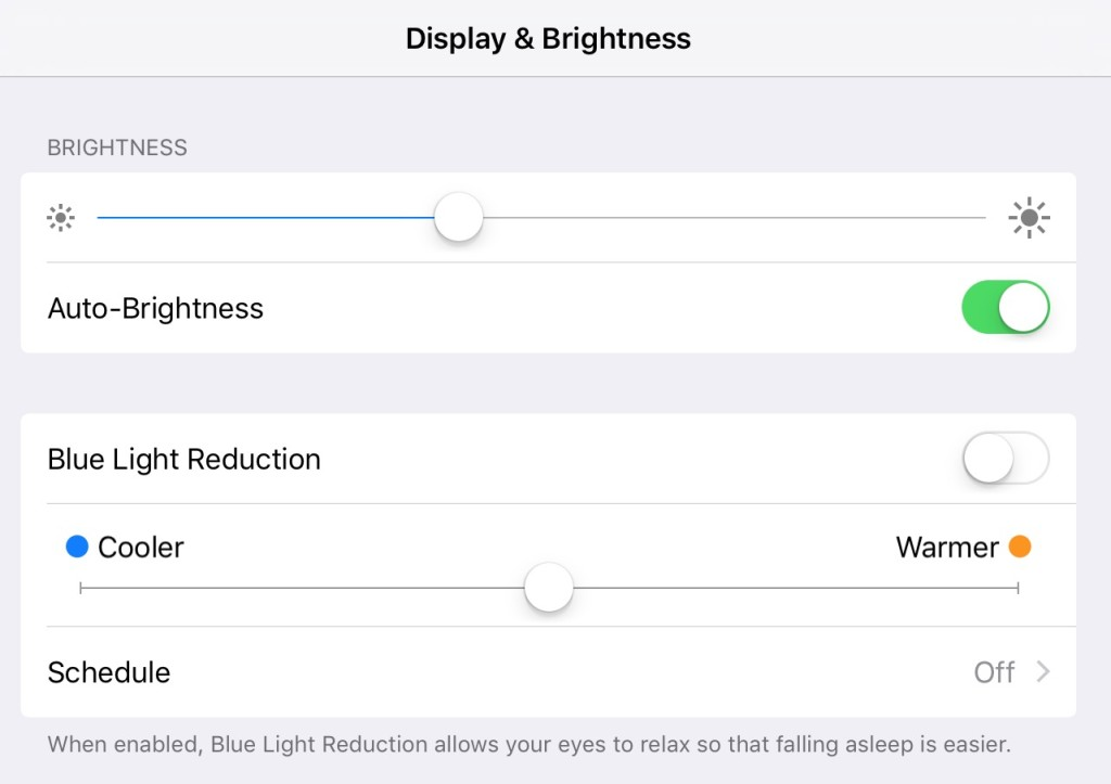 blue light reduction night shift 1024x723 Apple rilascia OS X 10.11.4, iOS 9.3, watchOS 2.2 e tvOS 9.2 beta agli sviluppatori