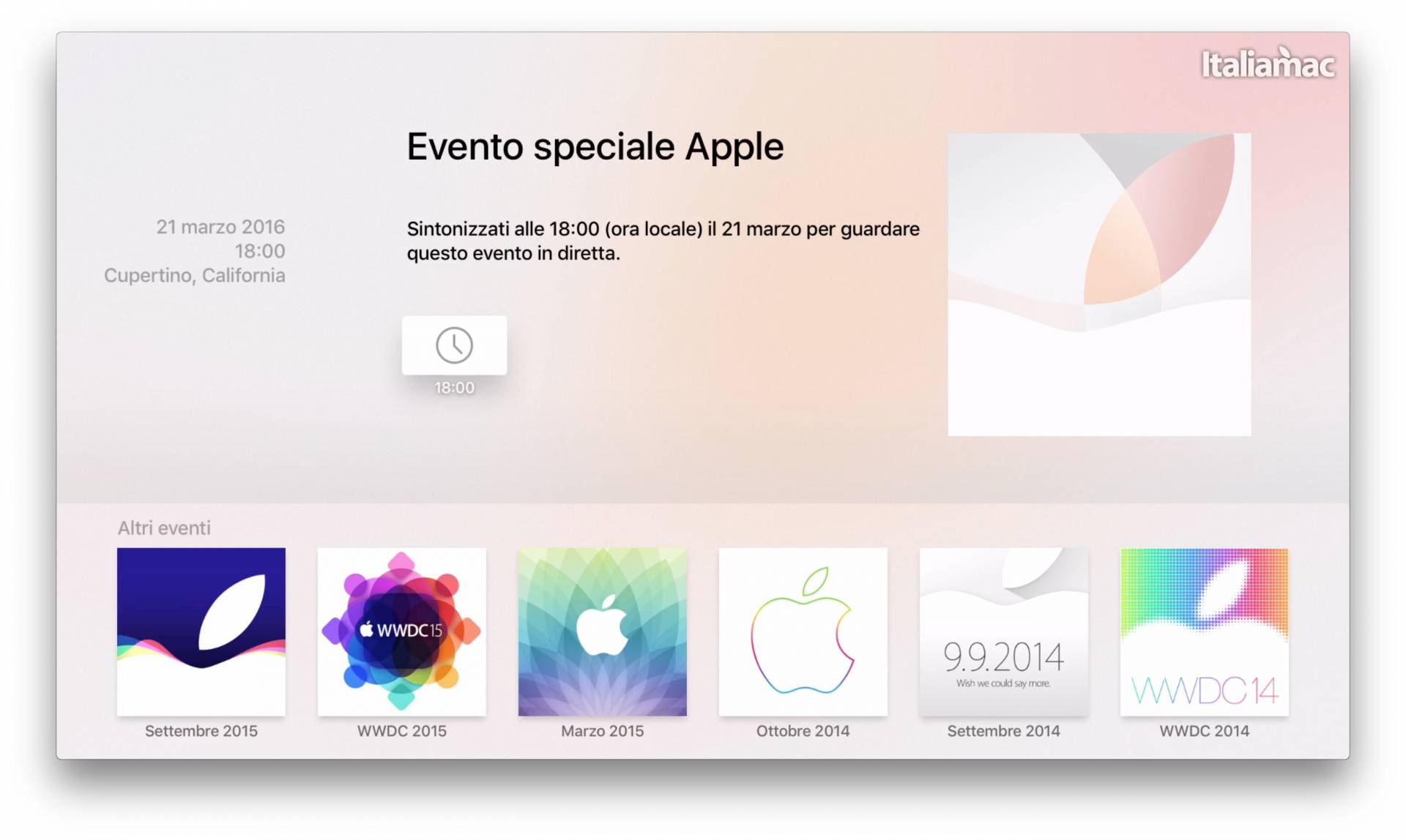 App Apple Events