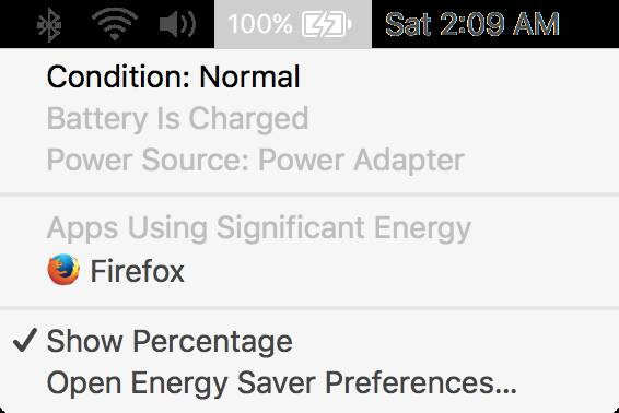 OS X MacBook batteria