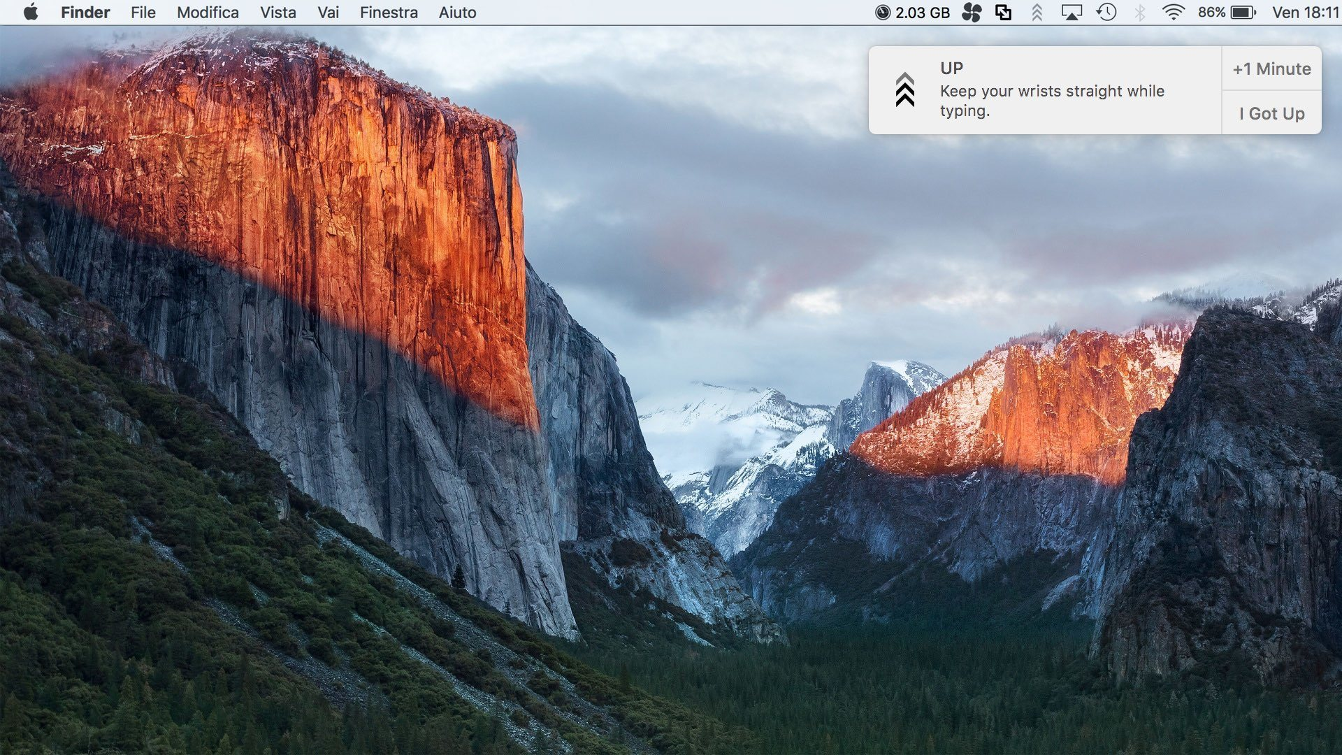 up os x reminders Dite addio alla vita sedentaria con UP per OS X