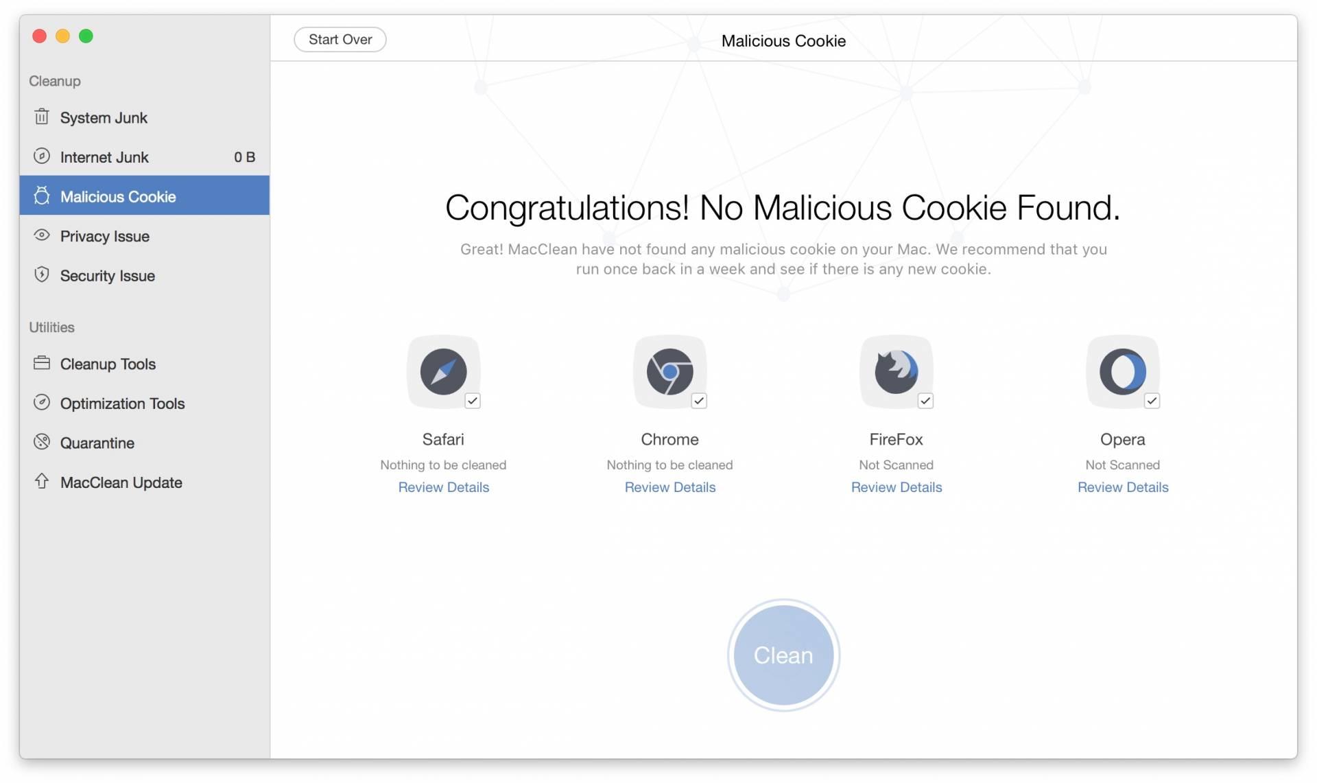 malicious cookie MacClean: Tieni pulito il tuo Mac con il tool 7 in 1