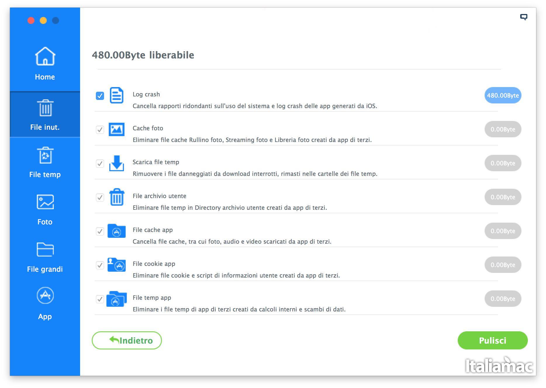 file inutili iMyfone Umate: Eliminare file inutili da iPhone con un click