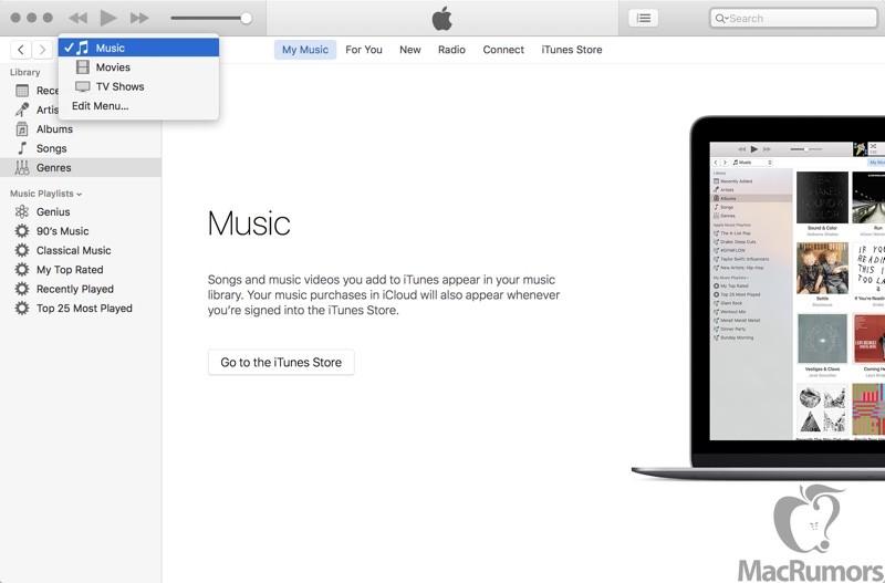 itunesnavigation 800x527 iTunes 12.4 introdurrà alcuni piccoli miglioramenti grafici in vista del WWDC