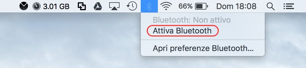 bluetooth menu bar Come abilitare Bluetooth su Mac senza tastiera o mouse