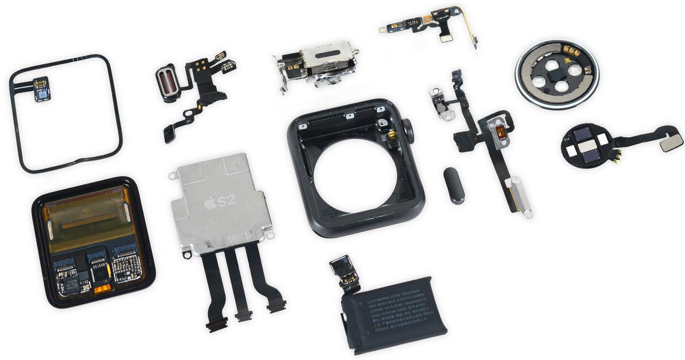 apple watch 2 parts Apple Watch 2 è molto semplice da riparare, parola di iFixit