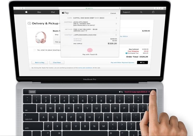newmacbookpro1 Primo sguardo alla Magic Toolbar e Touch ID dei nuovi MacBook Pro