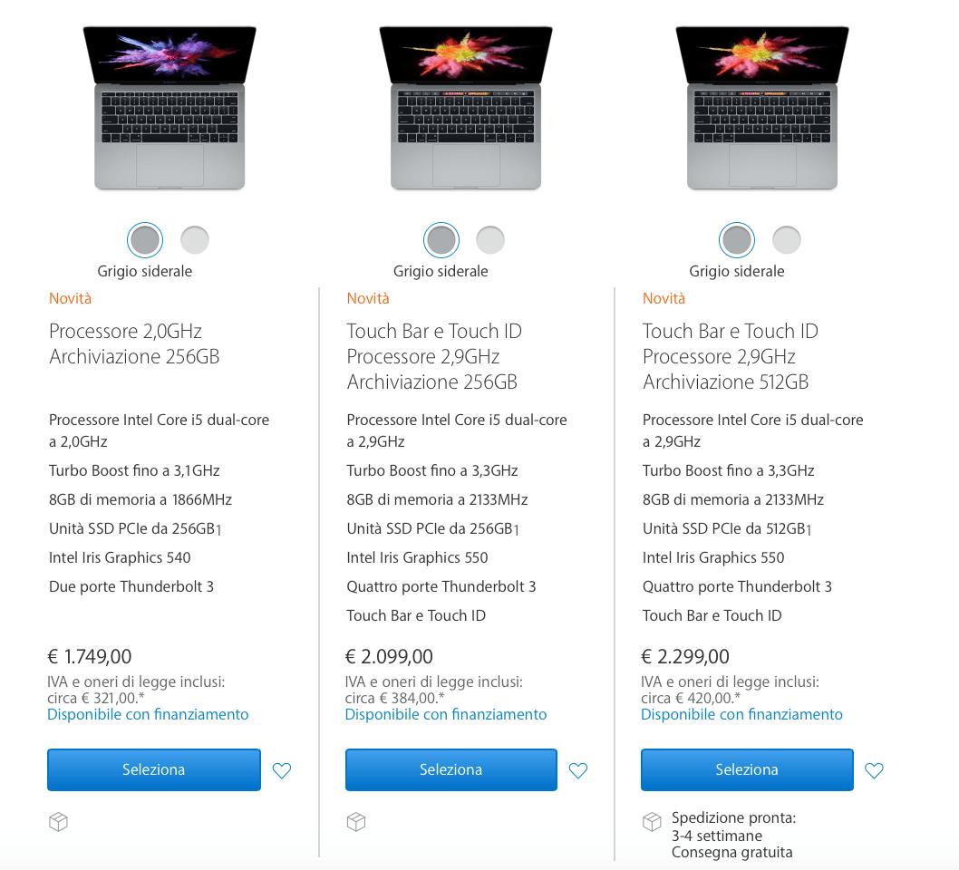 schermata 2016 10 27 alle 20.33.59 Apple presenta i nuovi MacBook Pro con Touch Bar Retina