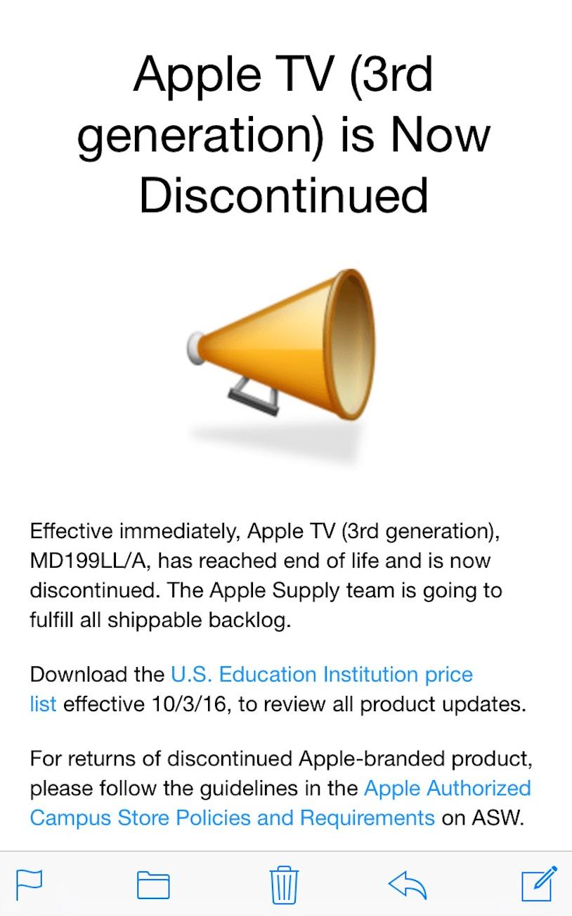 screen shot 2016 10 04 at 8 54 16 pm Apple rimuove Apple TV di terza generazione dagli store online