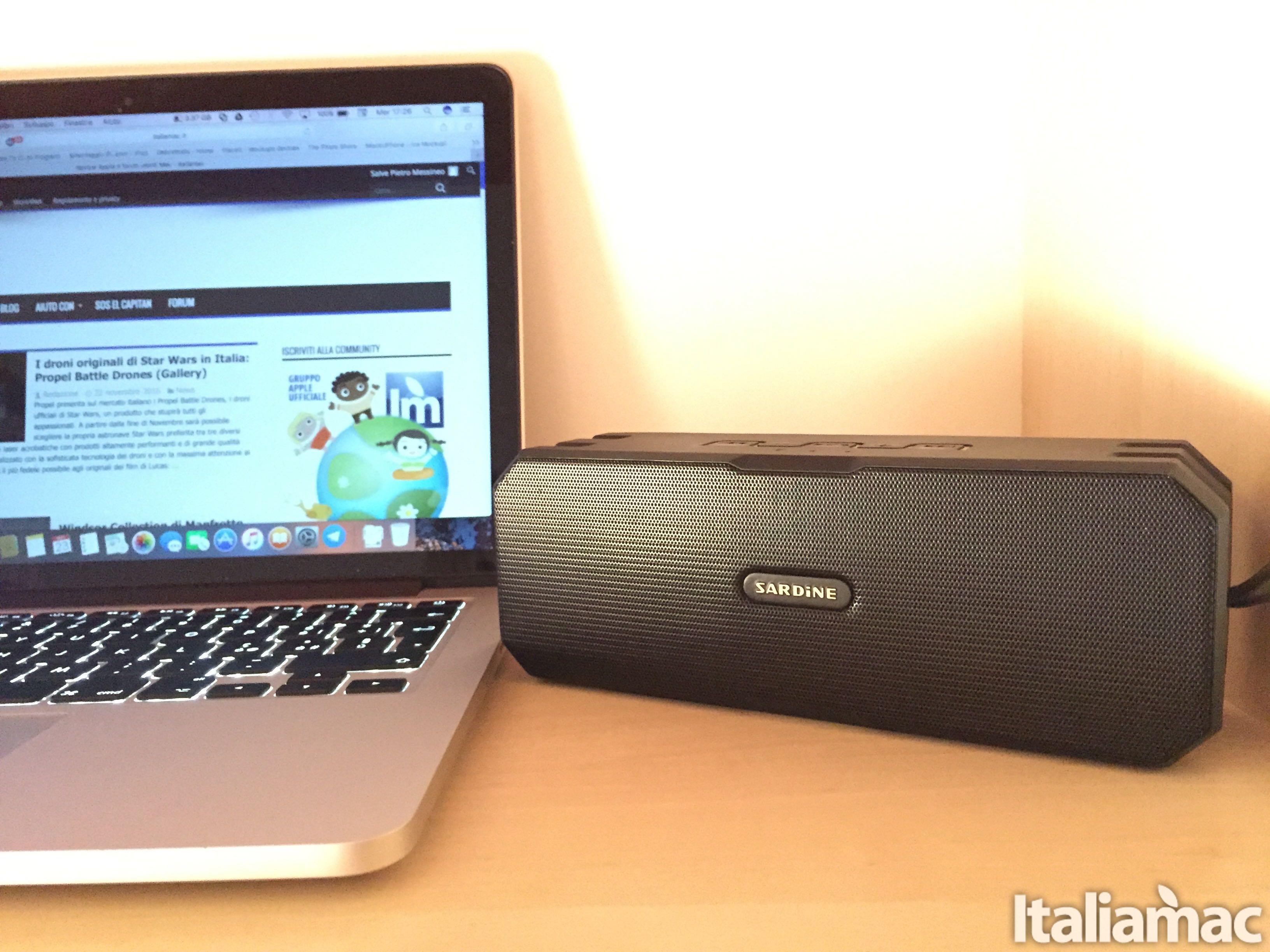 Sardine F4: lo speaker wireless stereo resistente all'acqua
