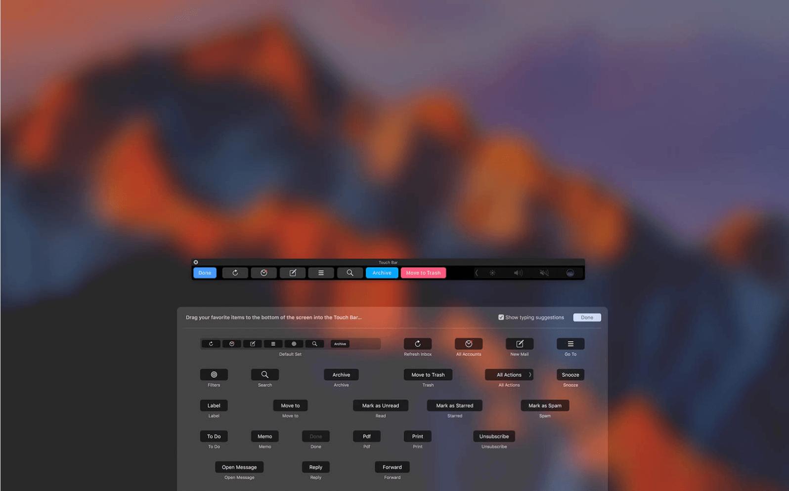Airmail 3.2 Touch Bar