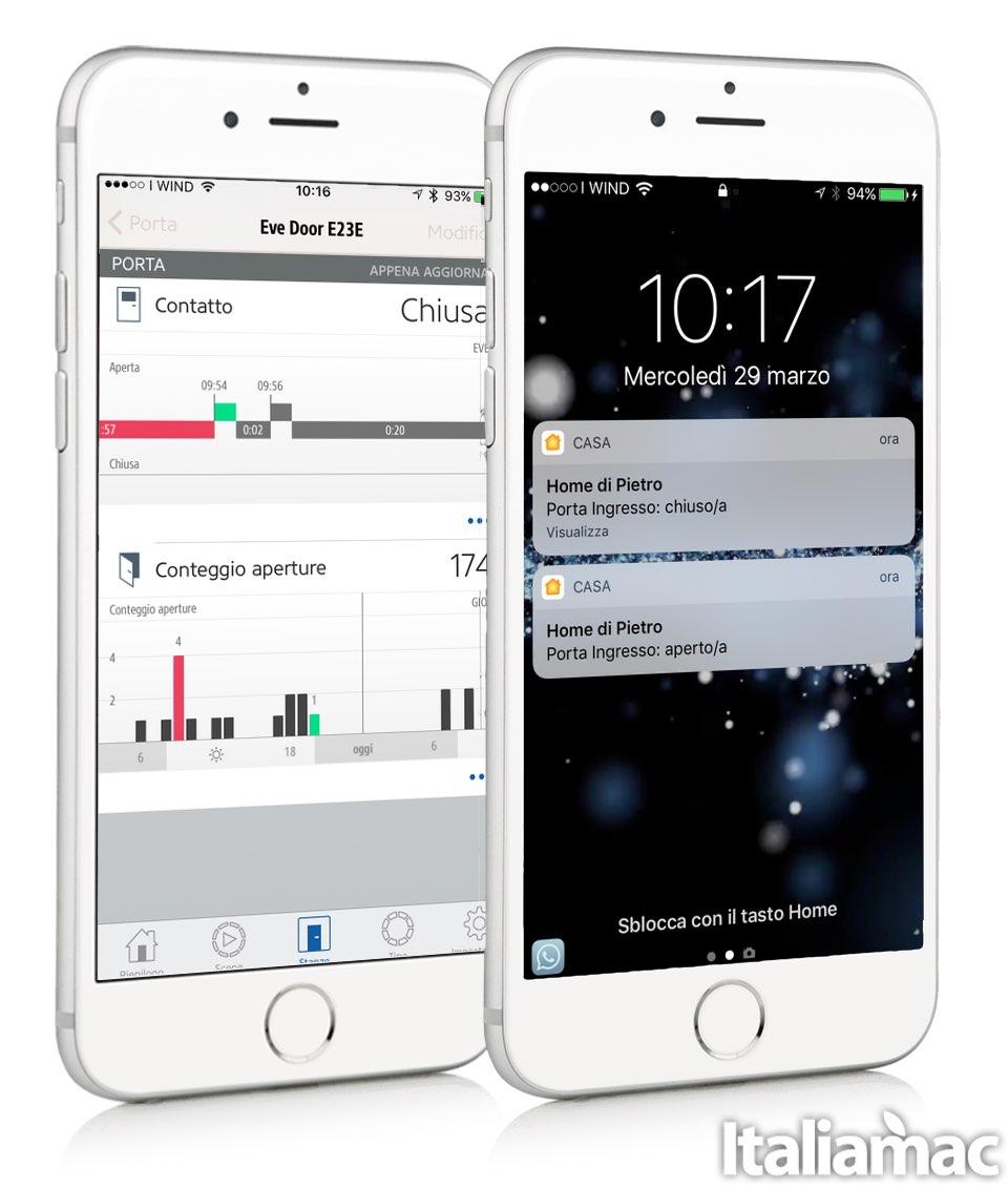 eve doorwindow app Eve Door & Window: Sensore in grado di rilevare se ci sono porte o finestre aperte