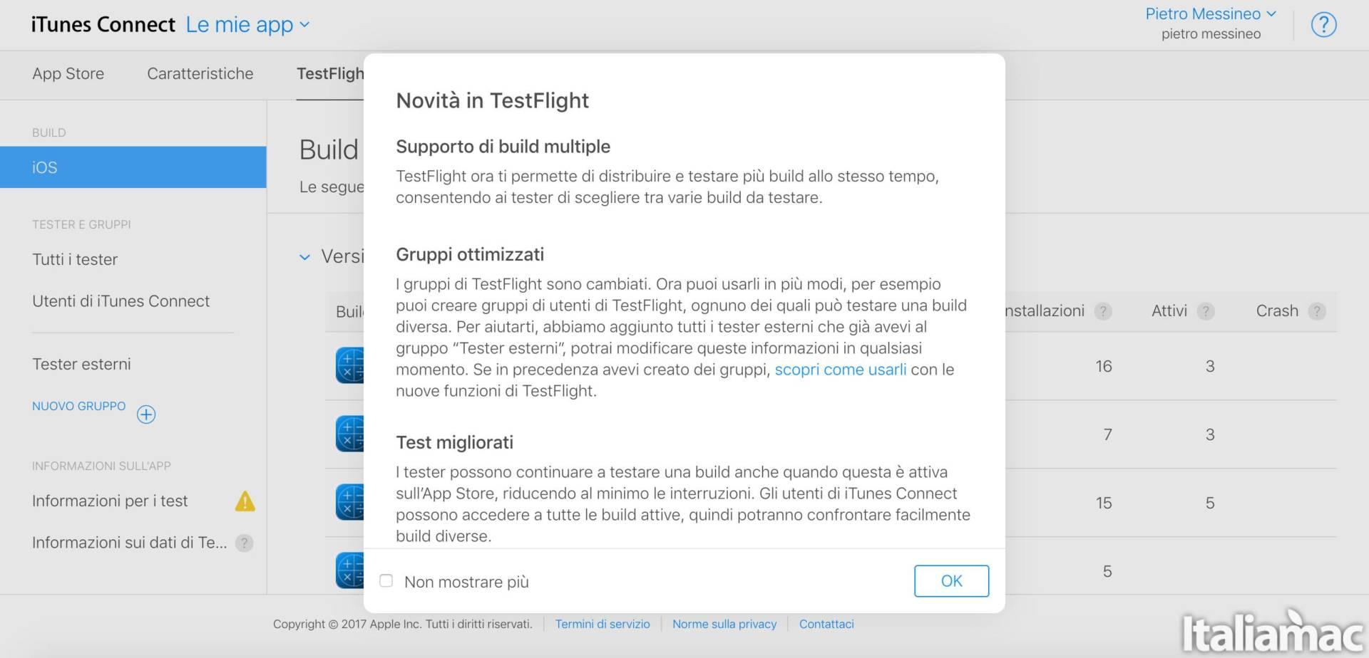 testflight platform TestFlight si aggiorna introducendo il supporto alle build multiple e test fino a 90 giorni
