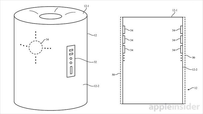 www.italiamac.it apple brevetta cilindro siri speaker siri speaker brevetto 3 Apple brevetta un cilindro speciale, Siri Speaker sta arrivando