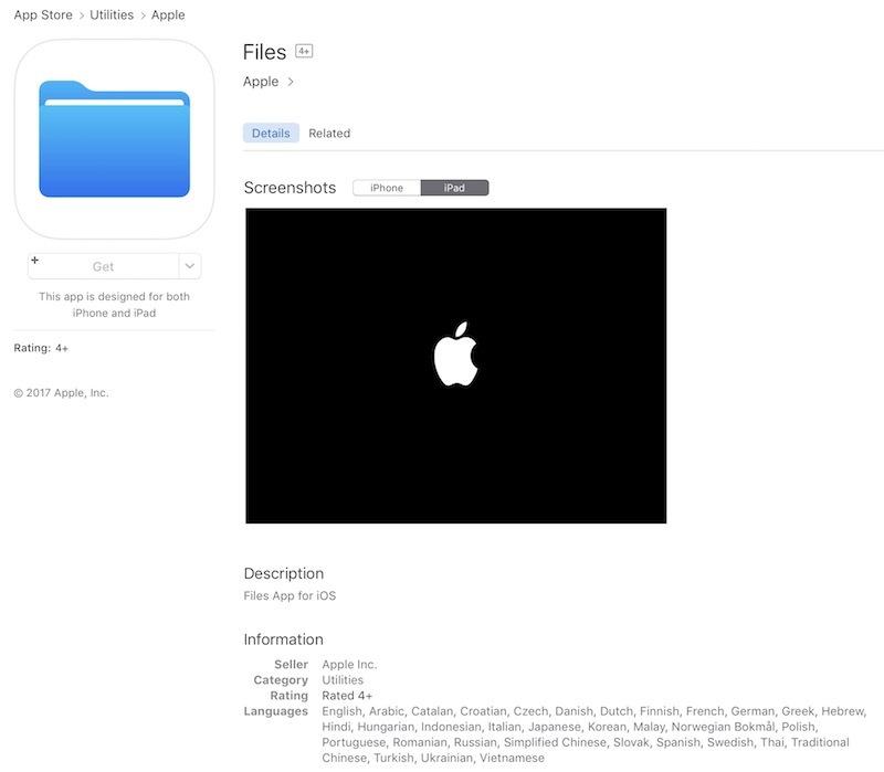 www.italiamac.it files app ios 11 Apple rilascia per errore lapp Files in App Store