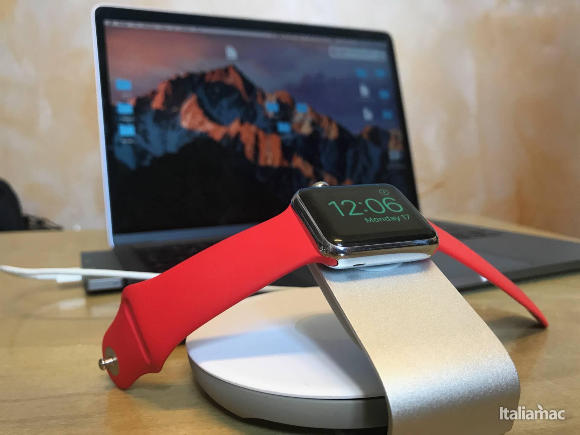 www.italiamac.it img 3096 Travel Stand: Il raccogli cavo e stand di Moshi per Apple Watch