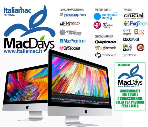 italiamac 600x300 macdays 2018 620x534 MacDays 2018 a Pordenone: Gli appassionati di iPhone e Mac si incontrano in fiera